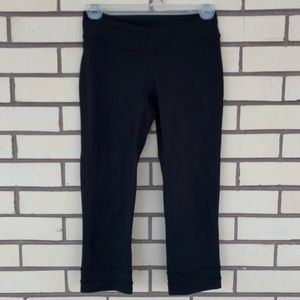 Lucy Black Cropped Workout leggings Size XS